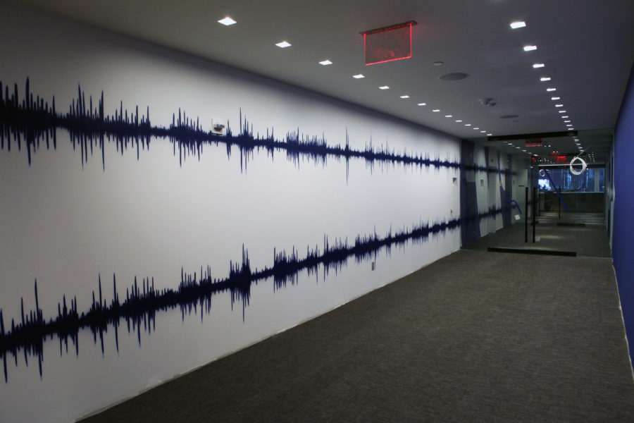 Interior hallway of Warner Music Group corporate office