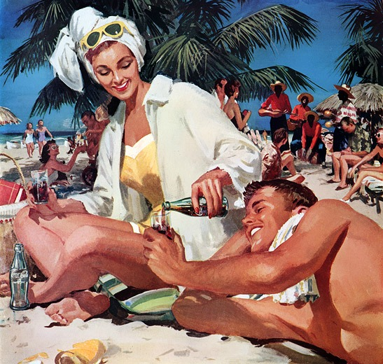 1958 travel advertisement for Coca-Cola and Cuba
