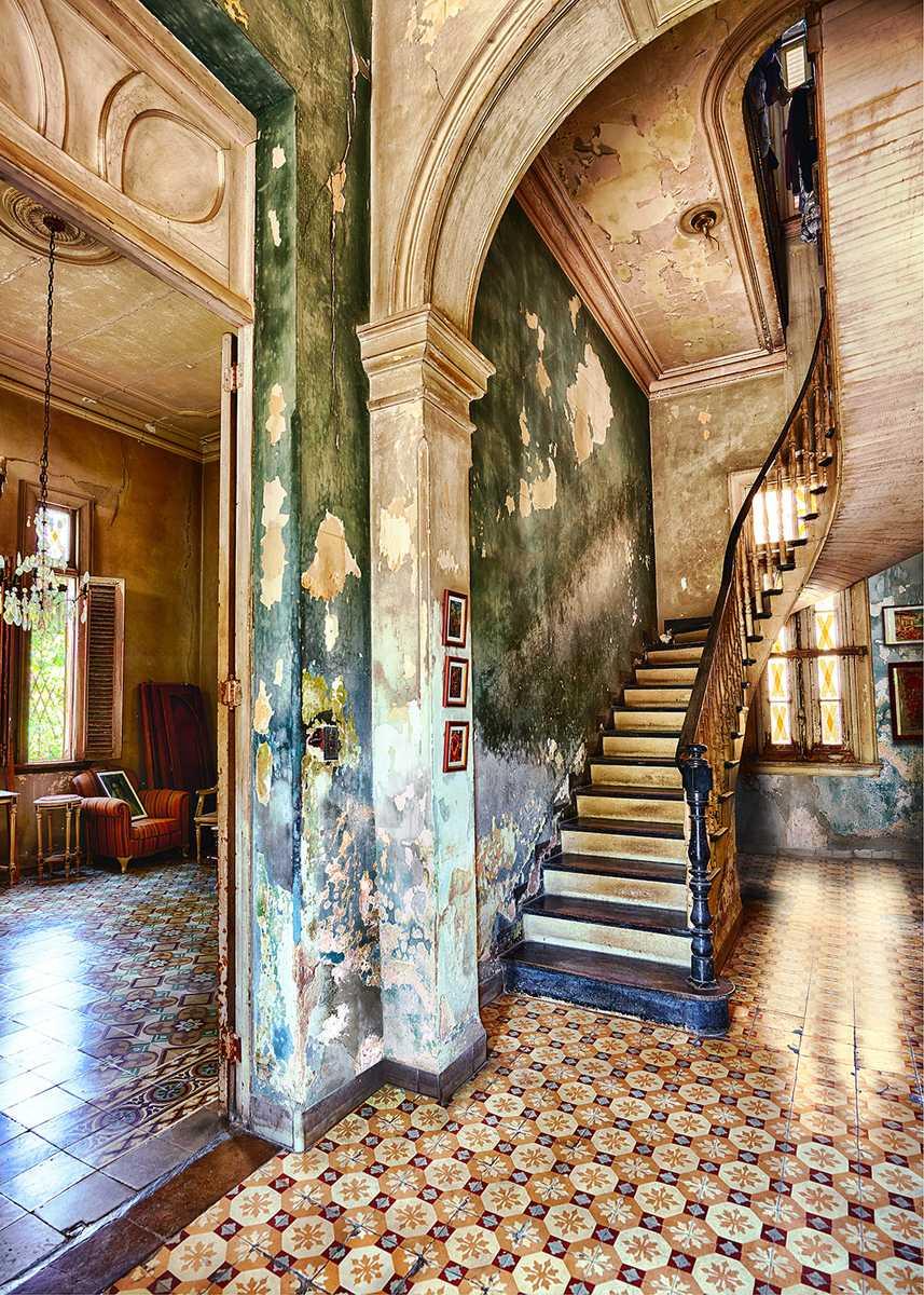 House of fefa stairway. Havana, Cuba 2013 by Werner Pawlok
