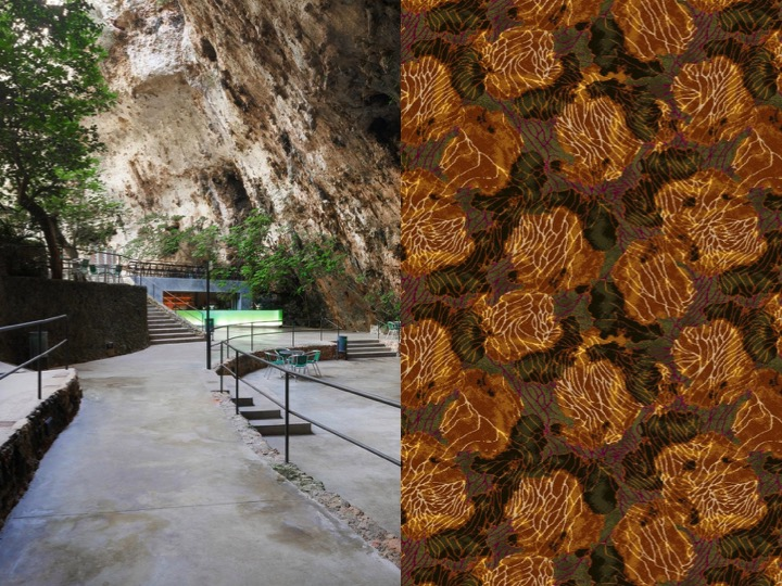 Left: Bar in the caves of Porto Cristo Majorca, Spain / Right: FX12695R4