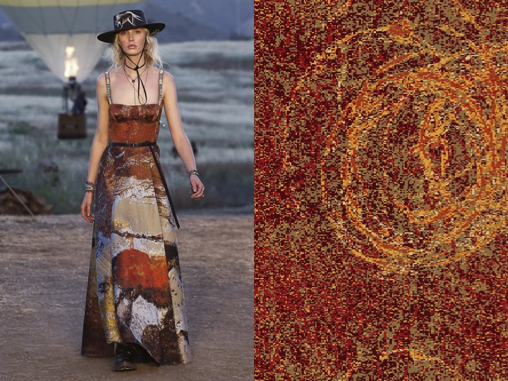 Left: Dior Resort 2018 /  Right: 1956 Design no. fx03496-1
