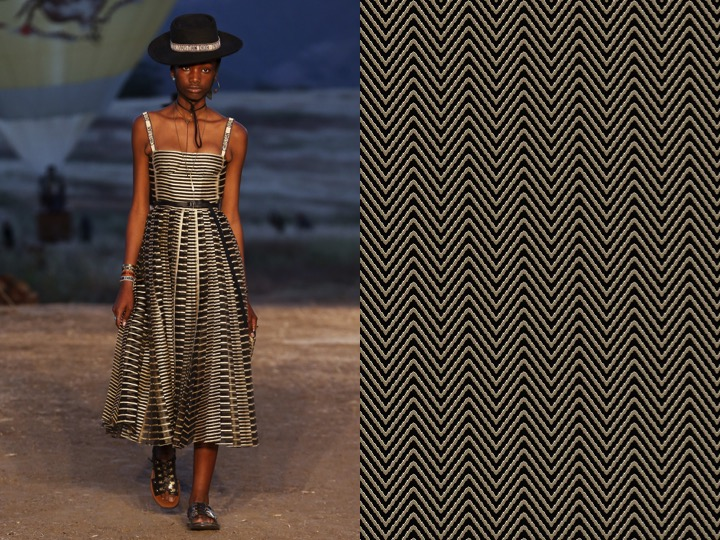 Left: Dior Resort 2018 /  Right: 1956 Design no. gx12111-2