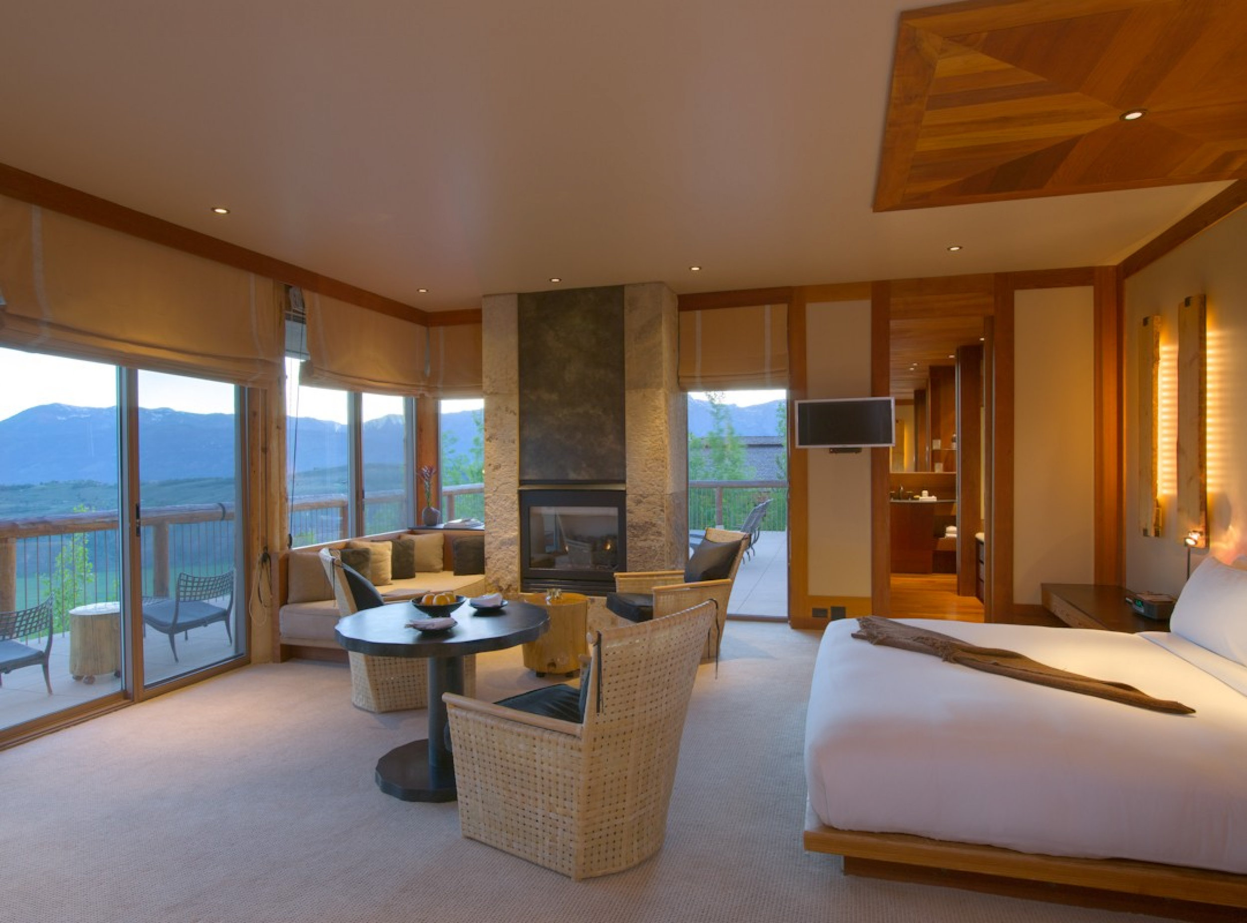 Suite Interior at Amangani Resort - Jackson Hole, Wyoming