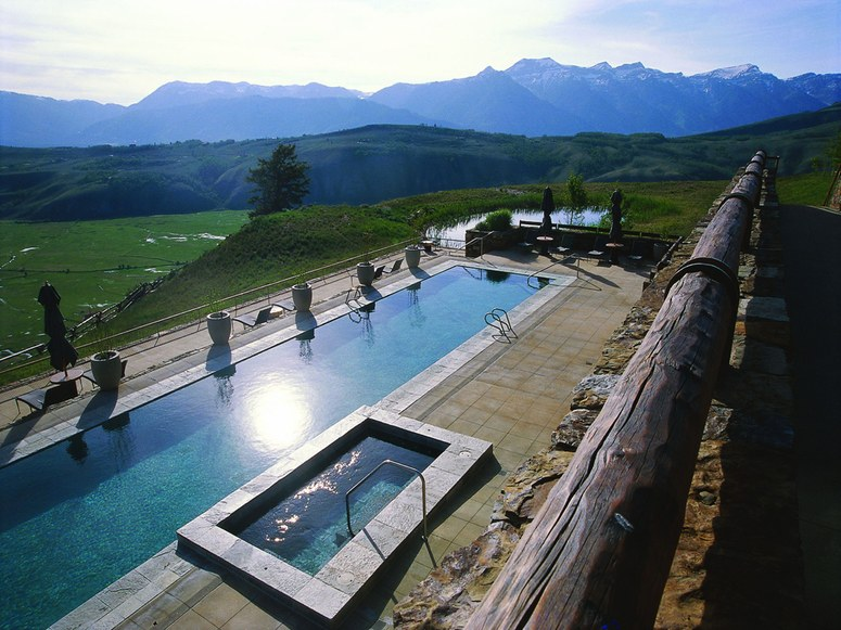 Pool at Amangani Resort - Jackson Hole, Wyoming