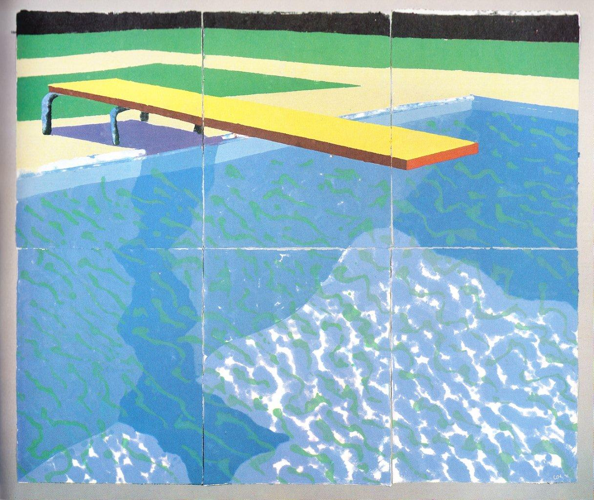 David Hockney - Board with Stillwater on Blue 1978