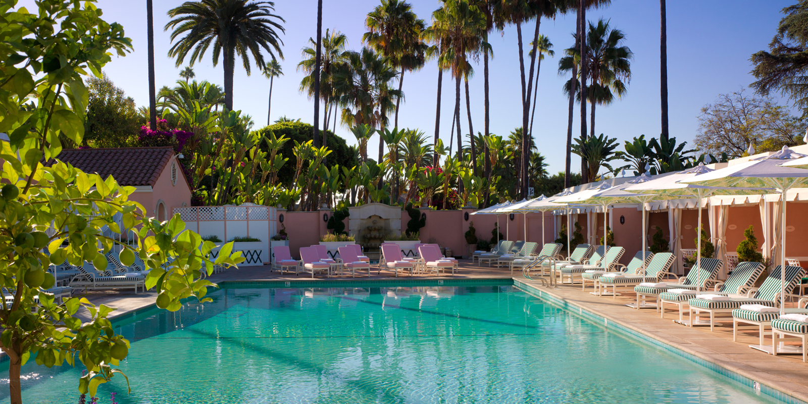 Beverly Hills Hotel Pool via Pinterest