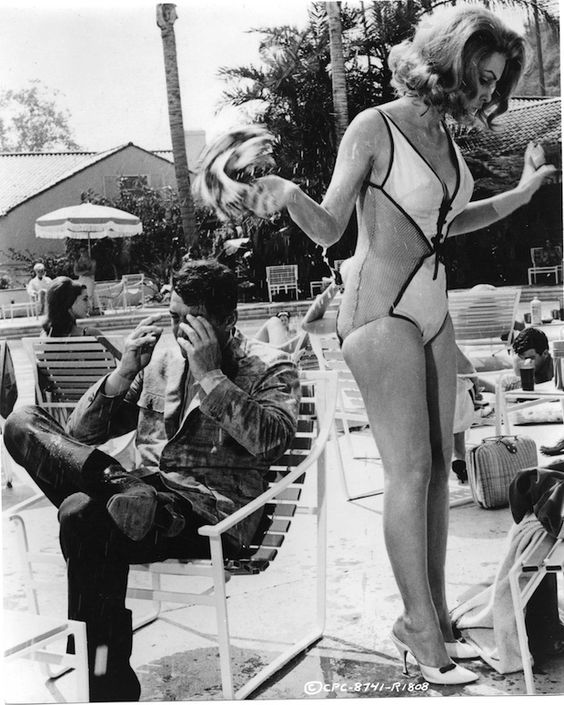 Dean Martin at Bel Air Hotel pool via Pinterest