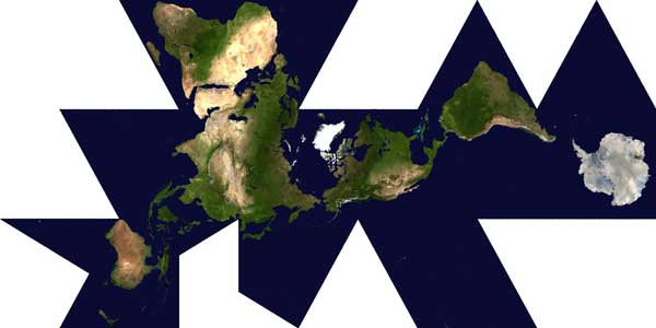 Dymaxion Map by Buckminster Fuller