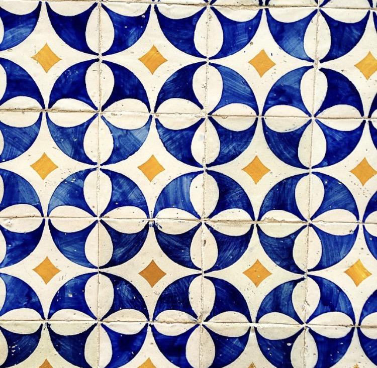 Azulejo tiles - Alfama District, Lisbon, Portugal