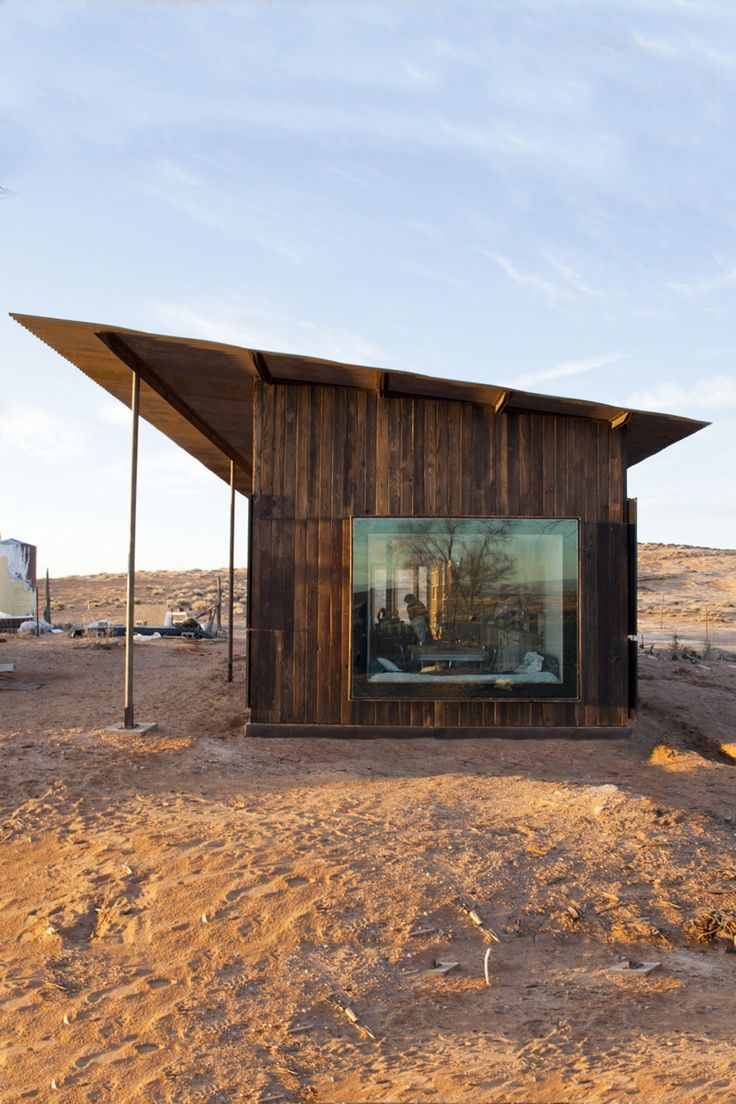 Architecture View:  Nakai House   Eight architecture students from the University of Colorado have designed and built a cabin in the Utah desert for a Navajo woman under the open sky.