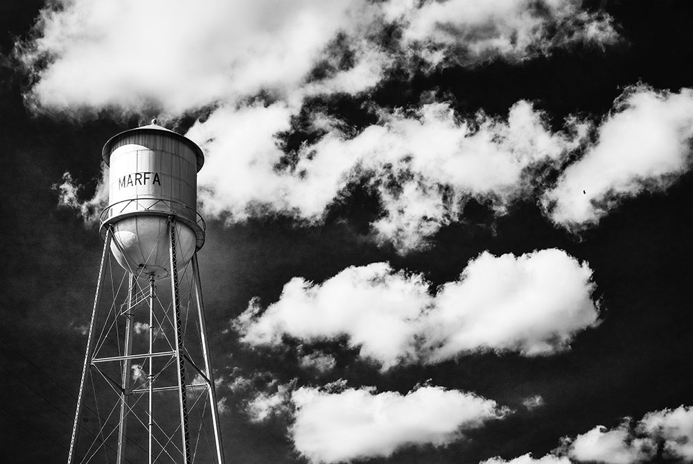 Marfa, Texas water tower - photo: Douglas Friedman