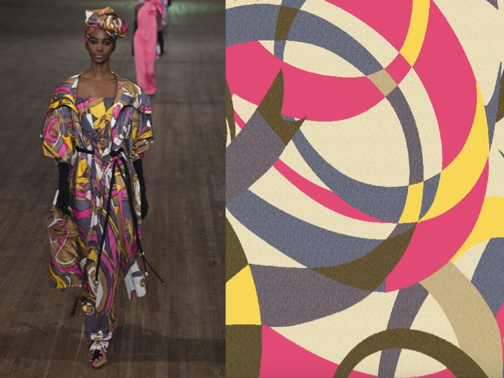 Left: Marc Jacobs RTW SS'18  / Right: Design no. 1-nx-ex1026