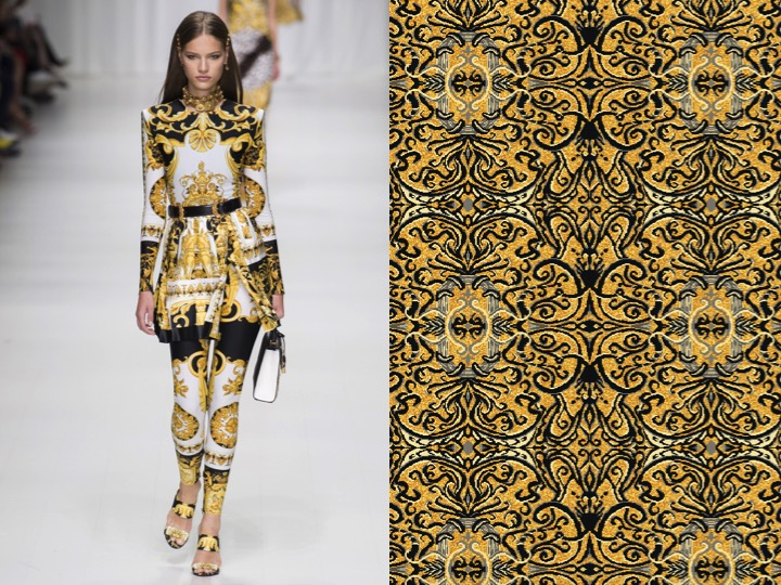 Left: Versace SS'18 RTW / Right: Design no. TX05750-1