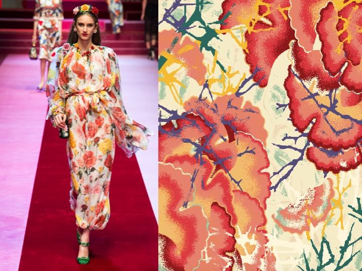 Left: Dolce & Gabbana SS'18 RTW / Right: Design no. nx02663-3