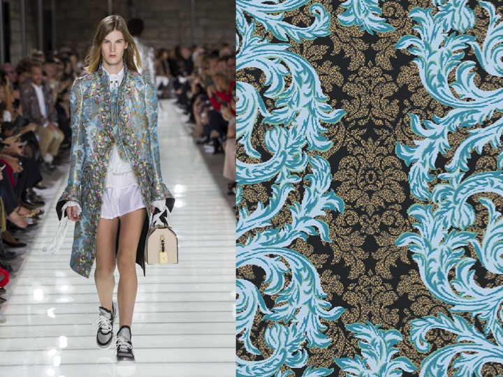 Left: Louis Vuitton RTW SS'18/ Right: Design no. LX02884-1