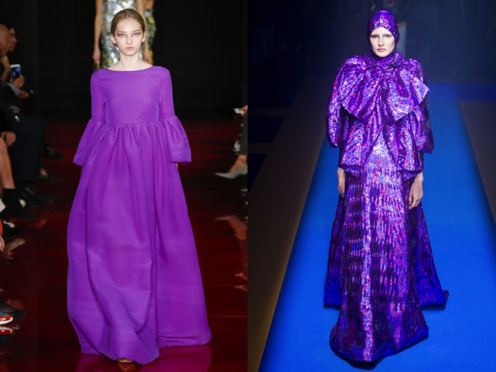 Left: Rochas RTW SS '18  / Right: Gucci RTW SS '18