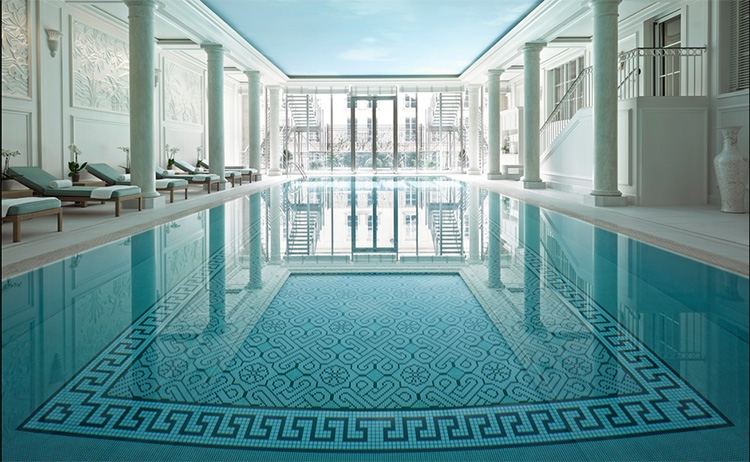 Shangri-La Hotel pool - Paris, France