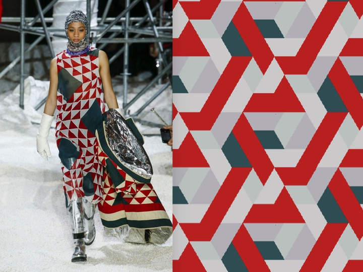Left: Calvin Klein RTW Fall 2018 / Right: Royal Thai Design no. GX12096-4