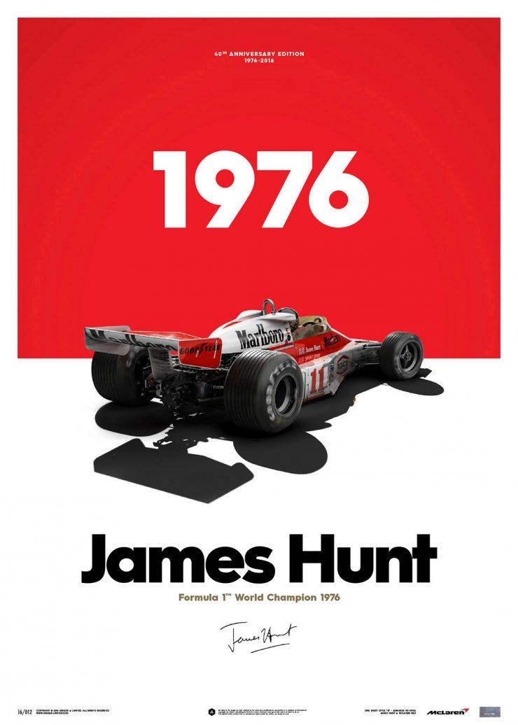 James Hunt promo poster 1976