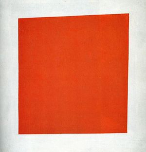 Painterly Realism of a Peasant Woman in Two Dimensions, more commonly known as Red Square, is a 1915 painting by Kazimir Malevich. The painting is of a red quadrilateral on a white field.