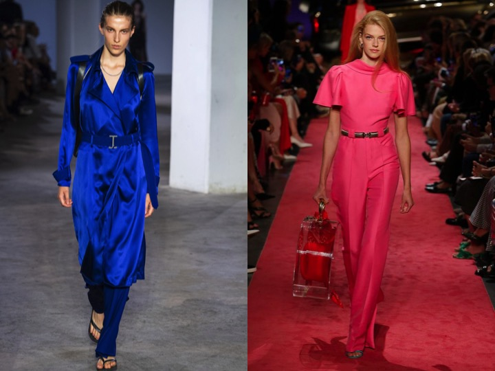 Left: Dion Lee RTW Spring'19 | Right: Brandon Maxwell RTW Spring'19