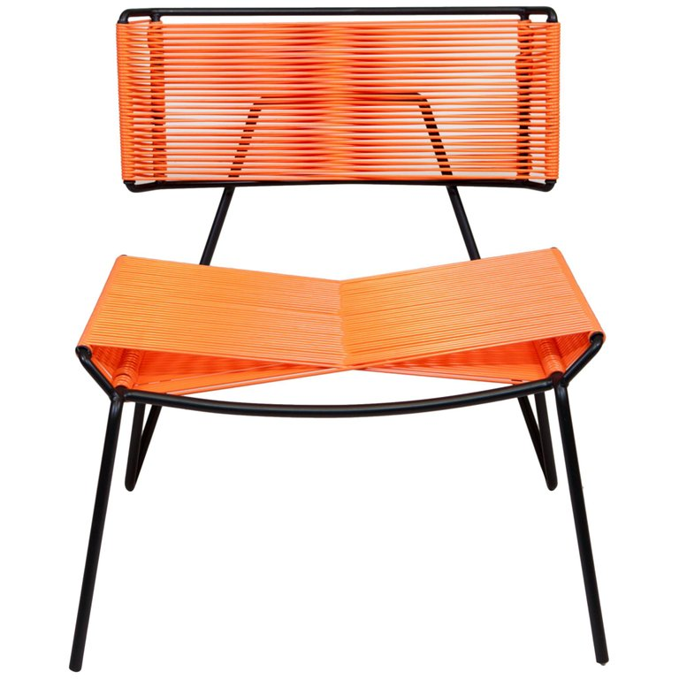 Handmade Midcentury Style Outdoor Lounge Chair