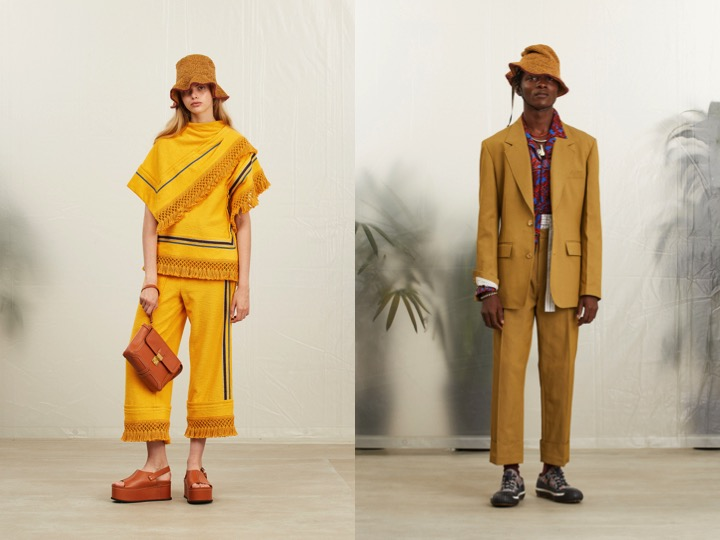 Left: Phillip Lim Spring '19 Womens RTW | Right: Phillip Lim Spring '19 Menswear