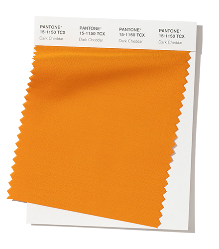 PANTONE 15-1150 Dark Cheddar Bold and daring, Dark Cheddar - is a sharp blend of yellow and orange.