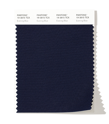 PANTONE 19-3815 Evening Blue - Confident and classic, a deep blue symbolic of the evening sky.