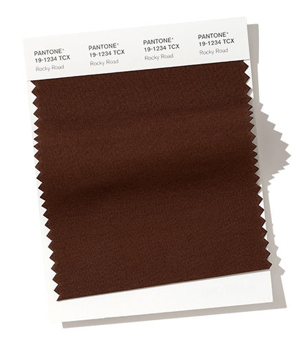 PANTONE 19-1234 Rocky Road Rocky Road - is an earthy and grounded solid brown.