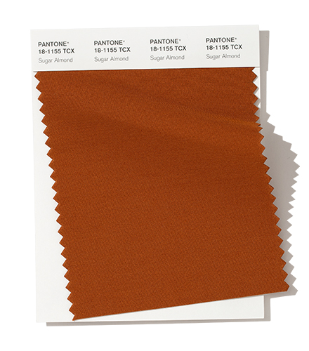 PANTONE 18-1155 Sugar Almond An appetizing mid-tone, Sugar Almond - is a sweetened shade of brown.