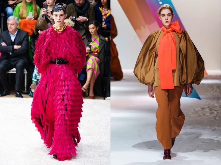 Left - J.W. Anderson Fall/Winter 2019 | Right - Roksanda Fall/Winter 2019