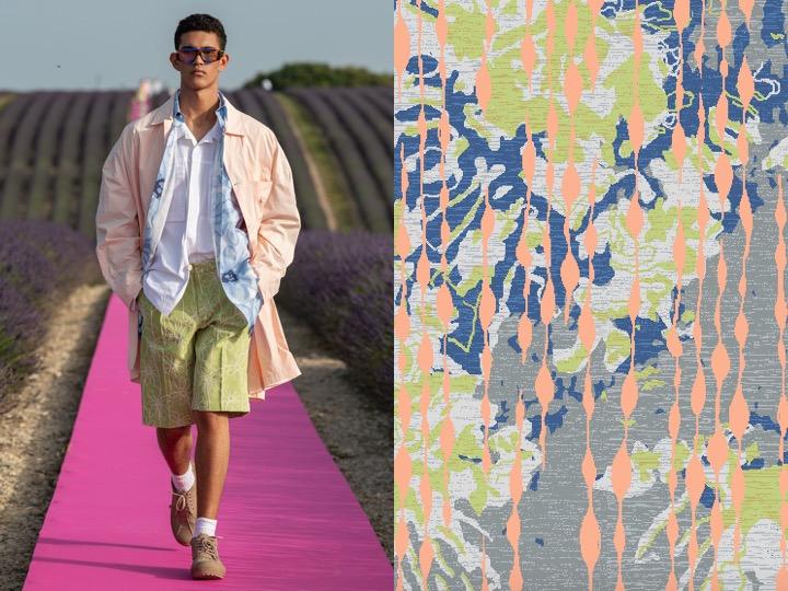 Left: Men's Spring 2020 RTW - Jacquemus | Right: Royal Thai Design no. NH-TH03027-16