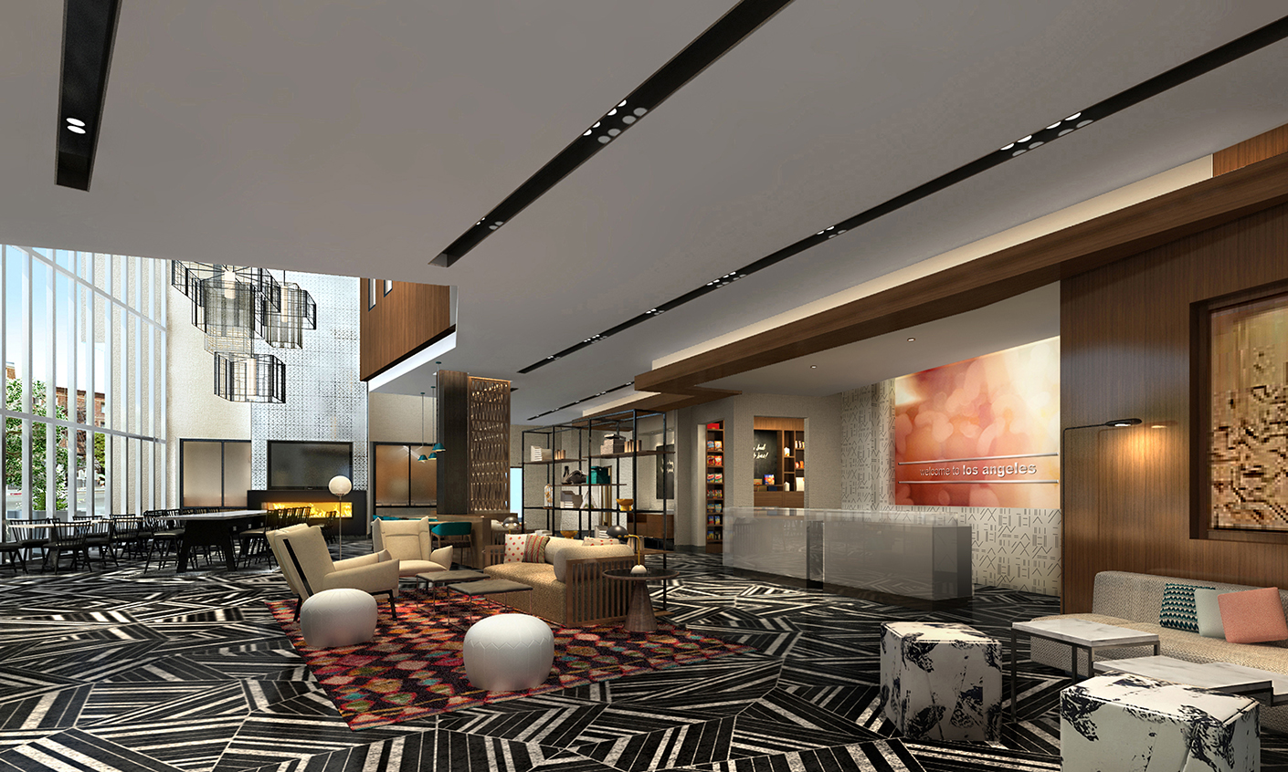 Hamptons Inn & Suites Lobby - Los Angeles, California