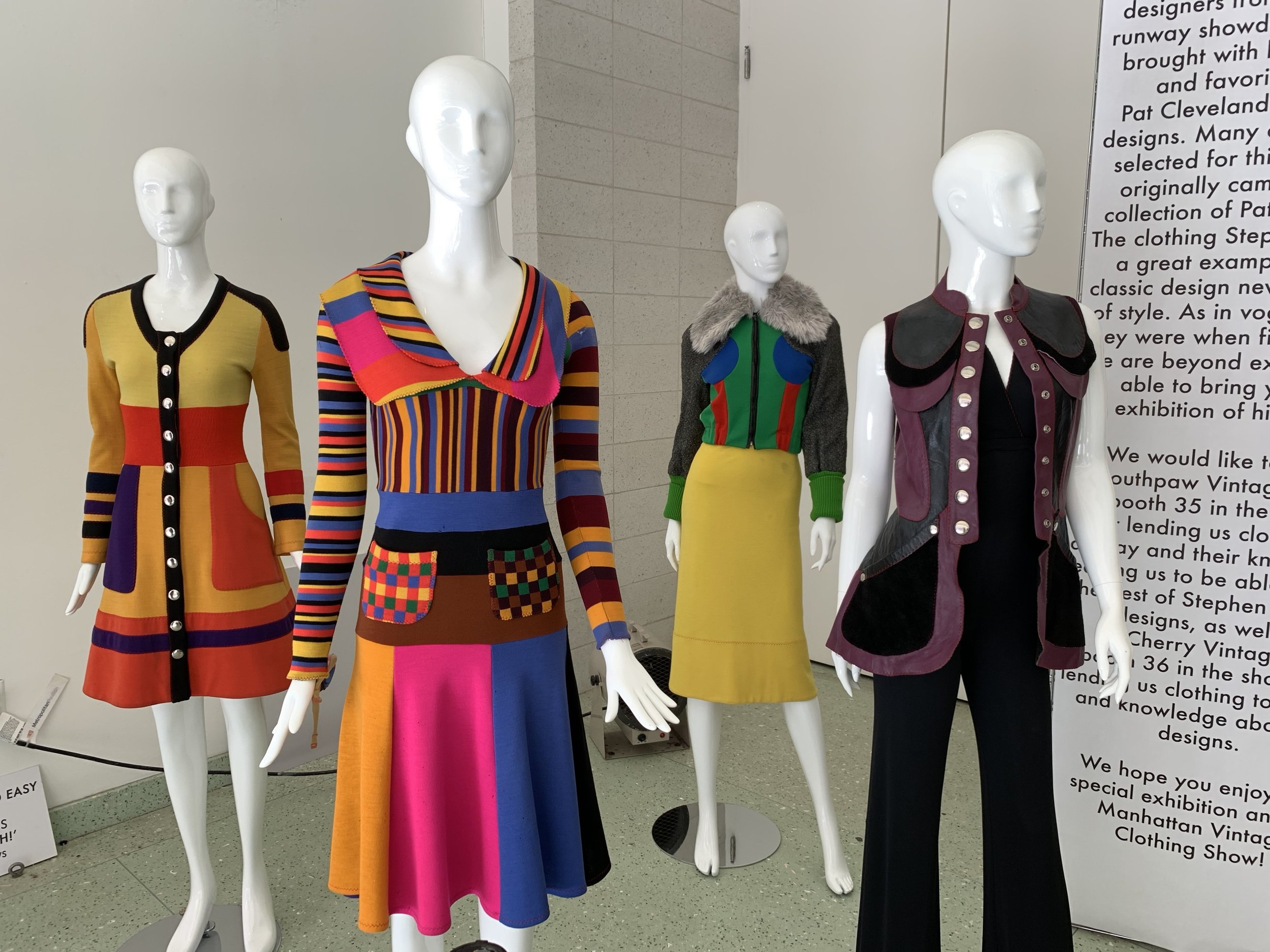 2nd dress (from left to right) is the look worn by the model Pat Cleveland.