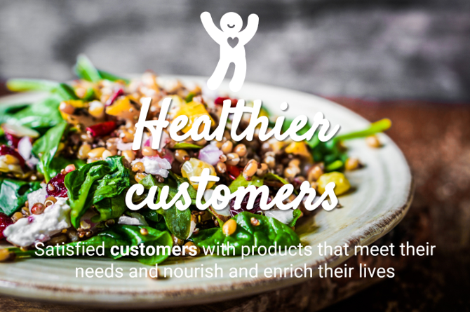 Healthy customers nutrition