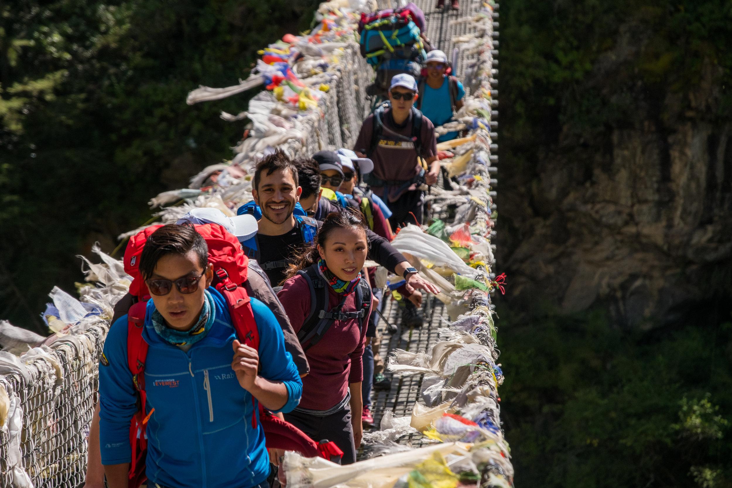 The Suspension Bridge to Namche Bazarr