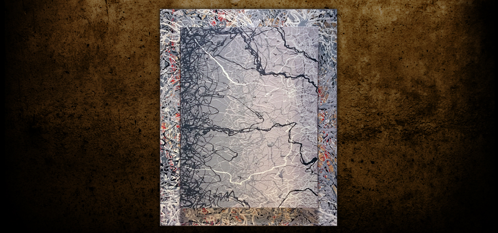 "Too Deep - 30"" x 24"" - Acrylic on double stack gallery wrap canvas"