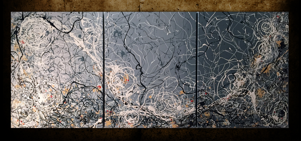 "Webtide by Gregory Beck. 3 @ 24"" x 18"" Acrylic on gallery wrap canvas"