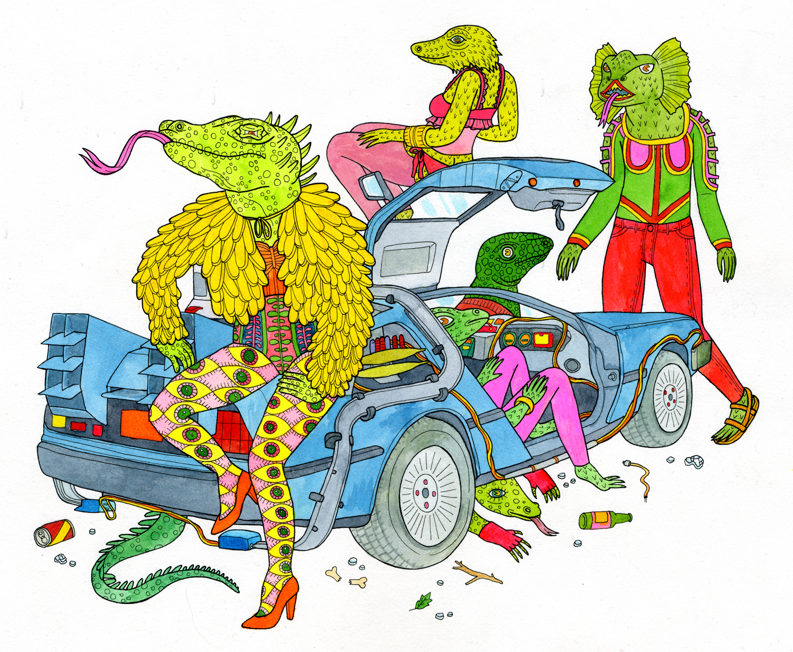 DeLorean Lizards