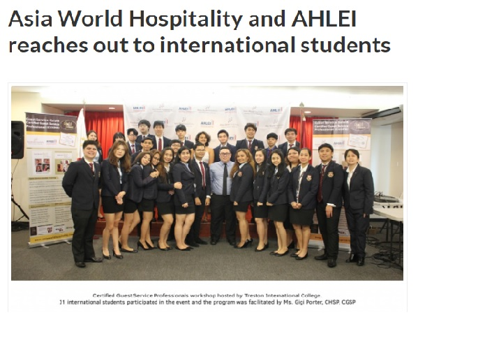 PH Travel Express • july 4, 2017 • view full article:  http://www.phtravelexpress.com/asia-world-hospitality-and-ahlei-reaches-out-to-international-students/