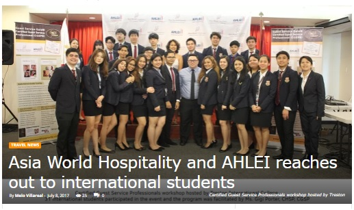 Out of Town Blog • july 8, 2017 • view full article:  https://outoftownblog.com/ASIA-WORLD-HOSPITALITY-AND-AHLEI-REACHES-OUT-TO-INTERNATIONAL-STUDENTS/