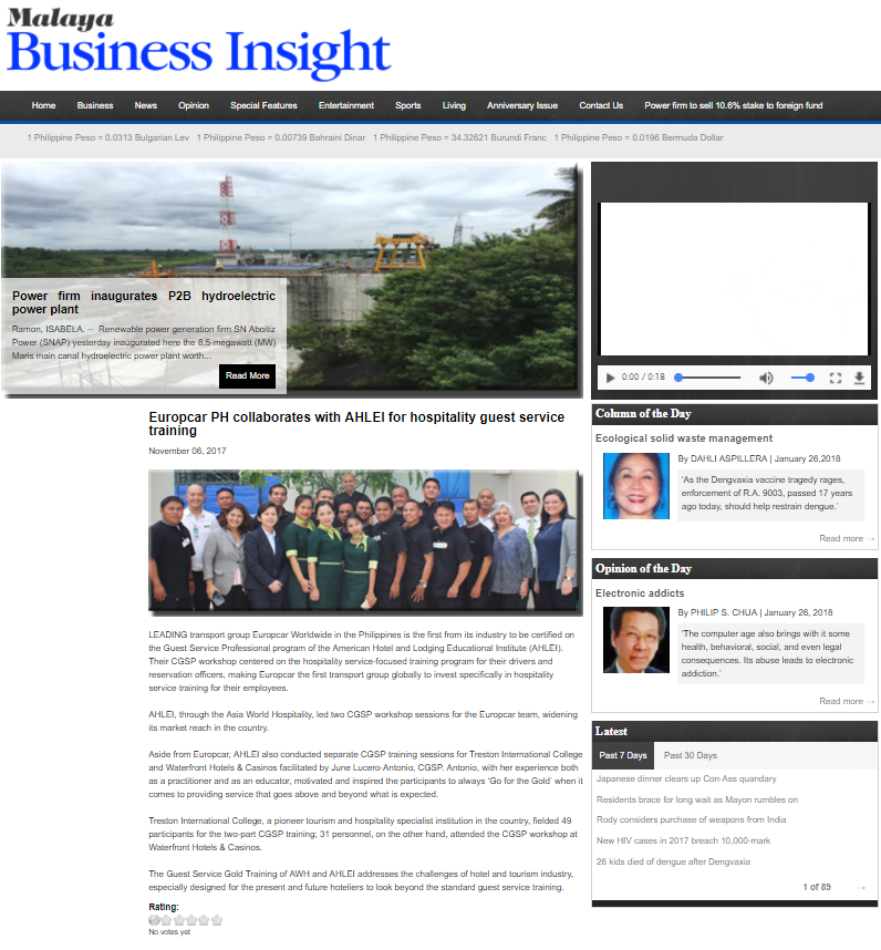 MALAYA BUSINESS INSIGHT - NOVEMBER 6 2017