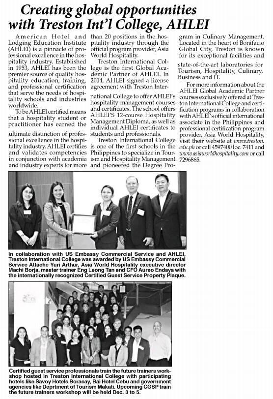 The Philippine Star | NOV. 9, 2018