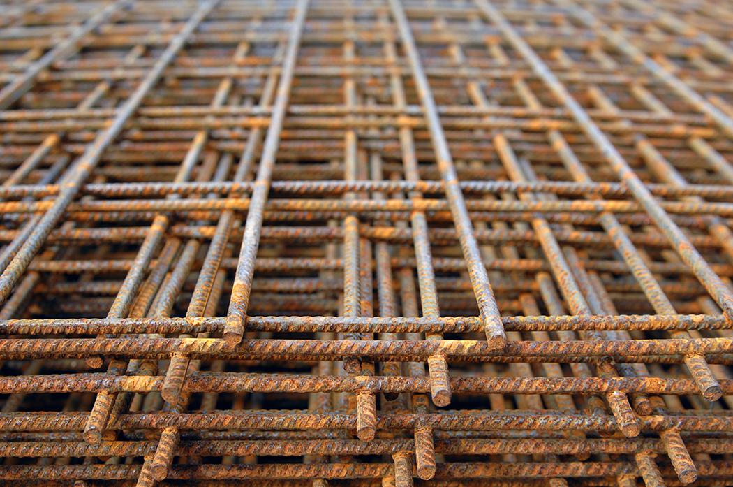 Steel foundation netting