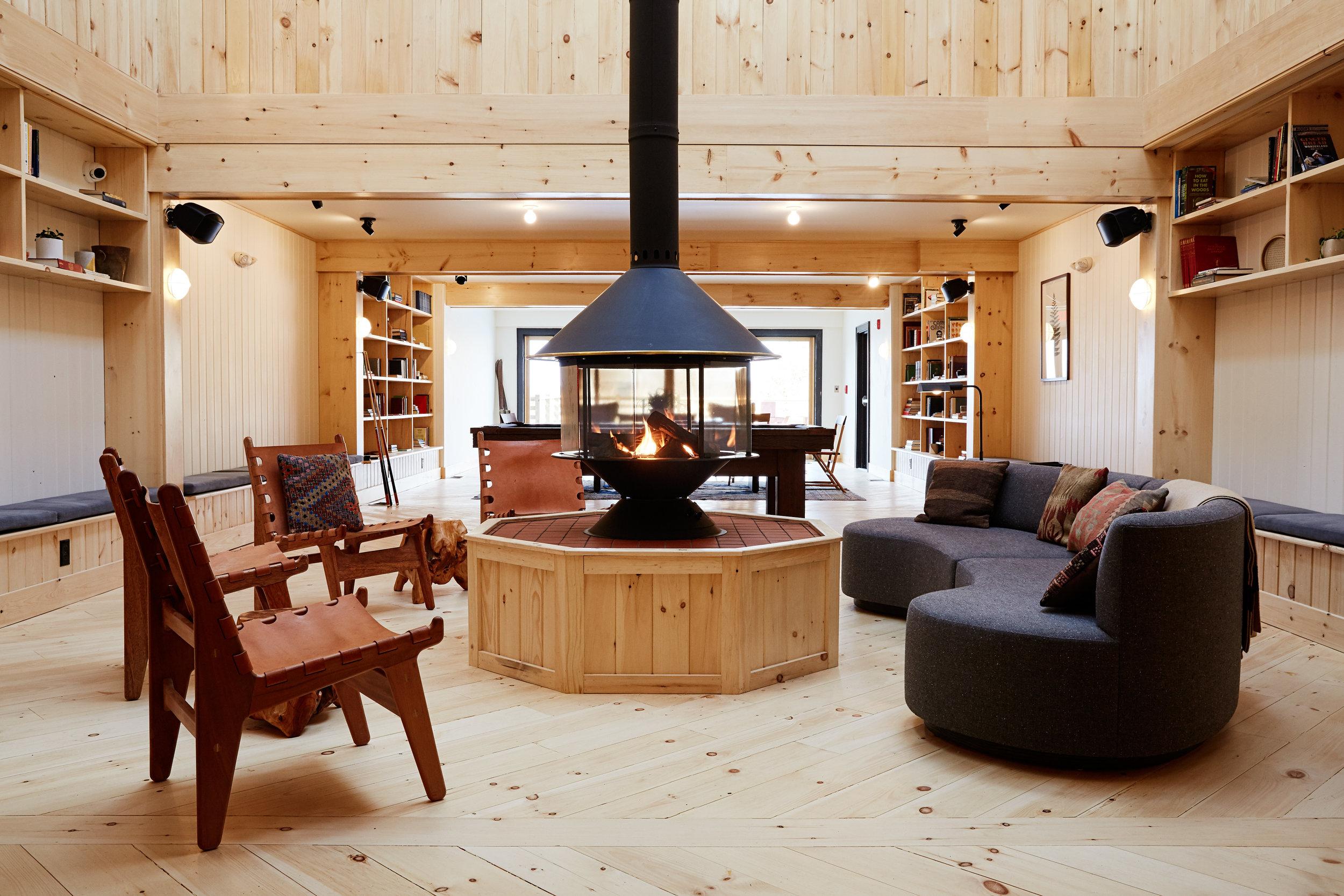 Scribner's Catskill Lodge sitting area