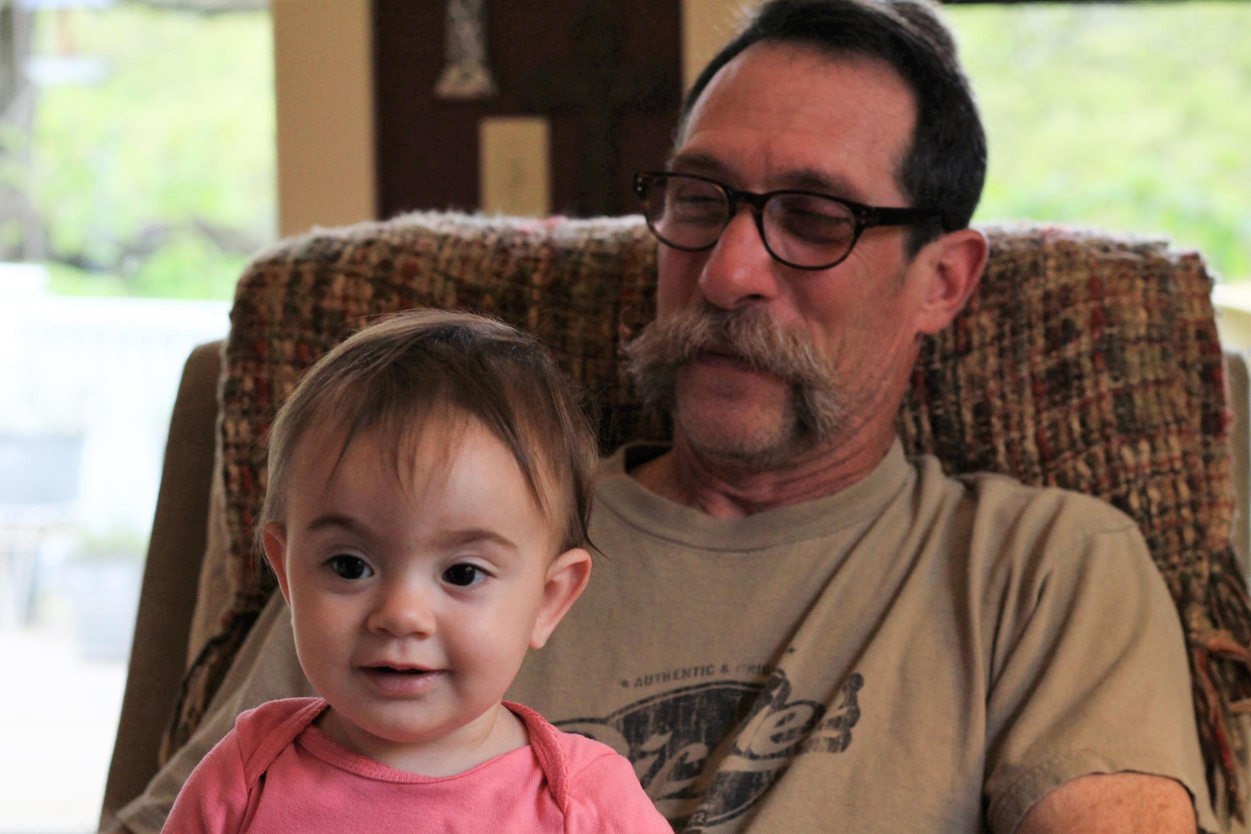 Zelda and her Grampa in Eureka Springs