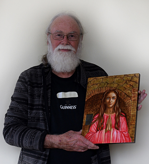 Egg-tempera painting of St. Philomena by David Walker