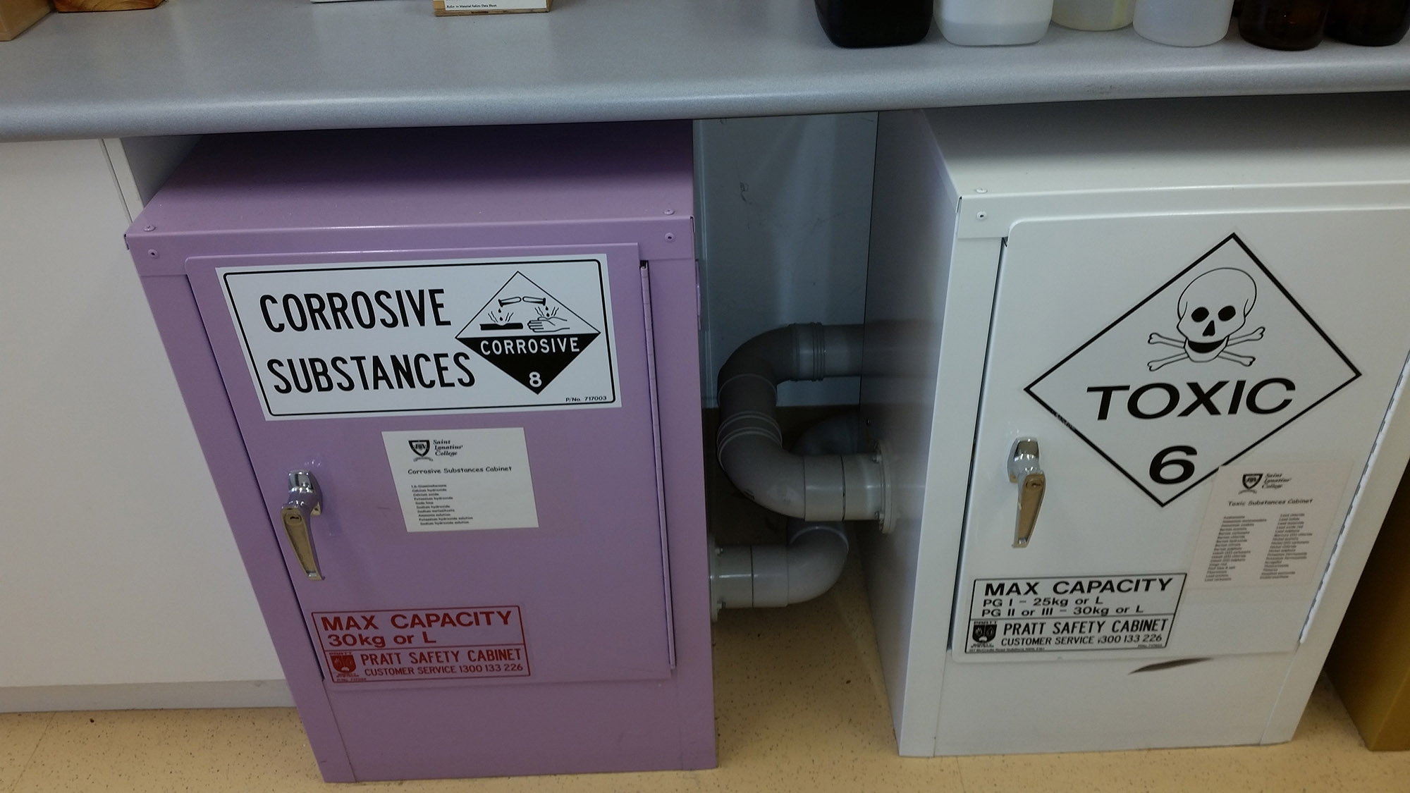 Corrosive and toxic substances cabinets