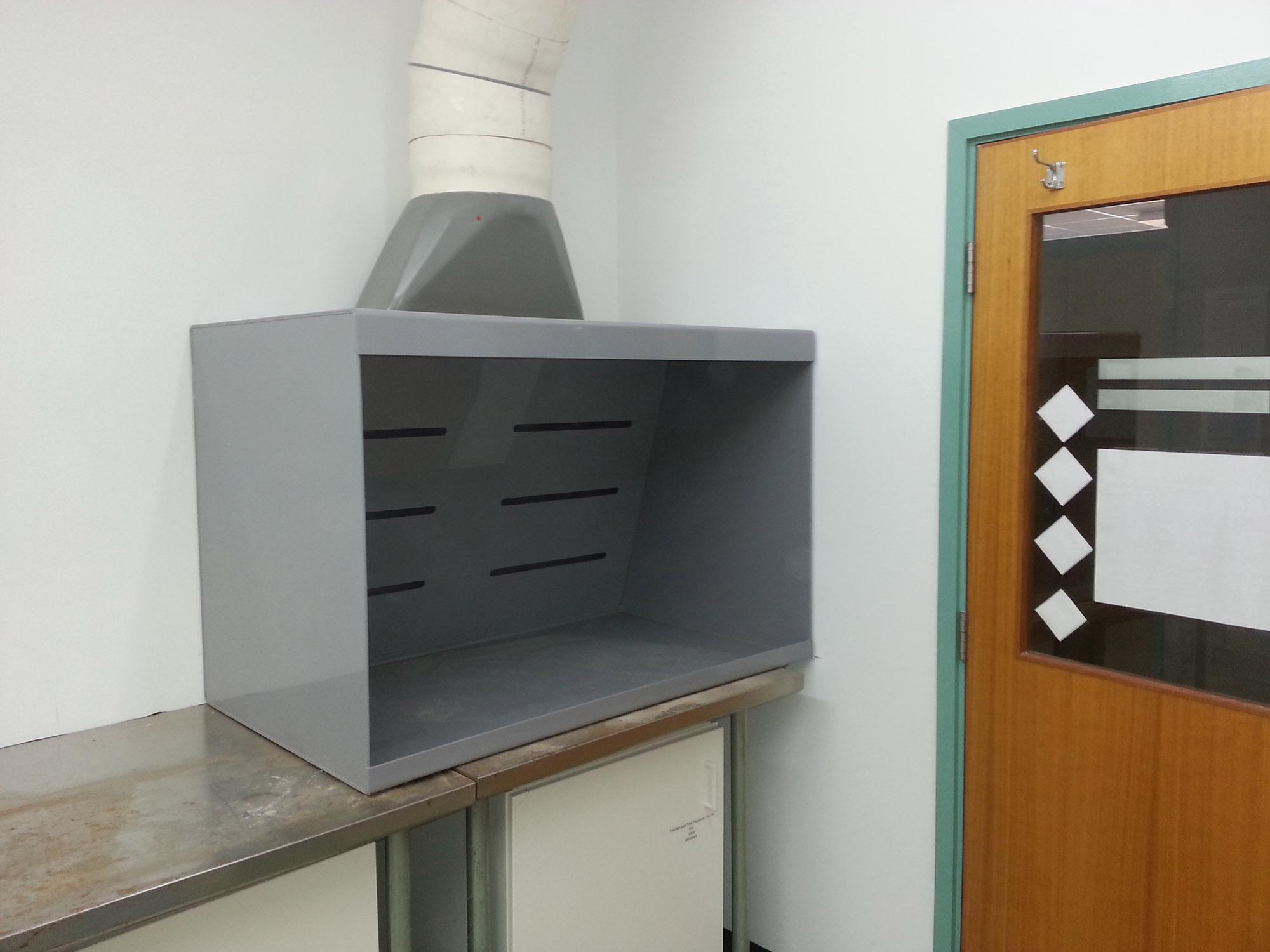 PVC side draft hood